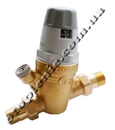 Регулятор давления воды со... со шкалой и удобной регулировкой давления воды от 1 до 6 бар.